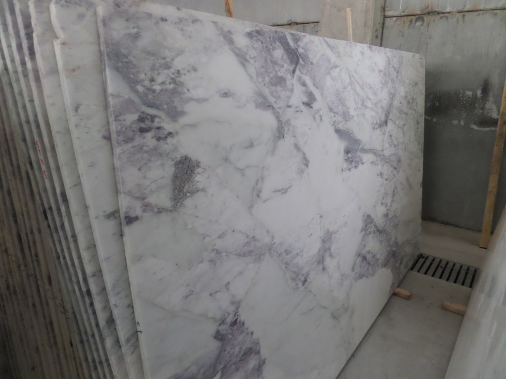 Bianco Viola Marble Slabs Polished White Competitive Marble Slabs