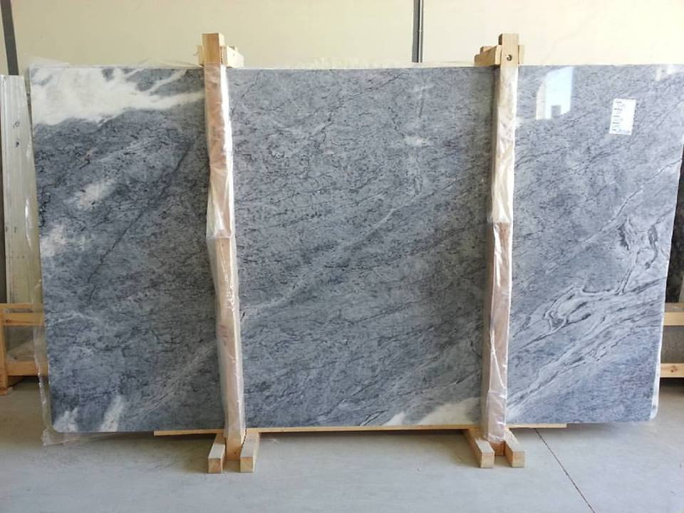 Big Light Blue Lagoon Marble Slab Polished Marble Slabs