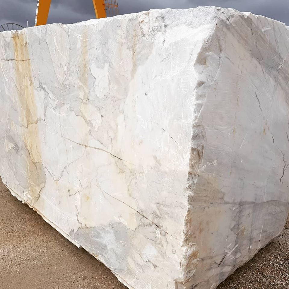 Big White Marble Block Calacatta White Natural Blocks