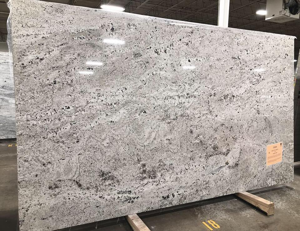 Biscotti White Granite Slabs Polished Granite Slabs for Kitchen Countertops