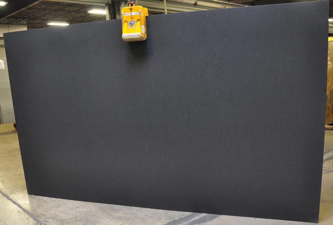 Black Absolute 3cm Brushed Granite Slabs for Countertops