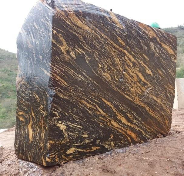 Black Amber Marble Natural Blocks from Brazil