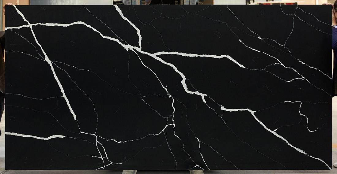 Black Artificial Quartz Stone Slabs