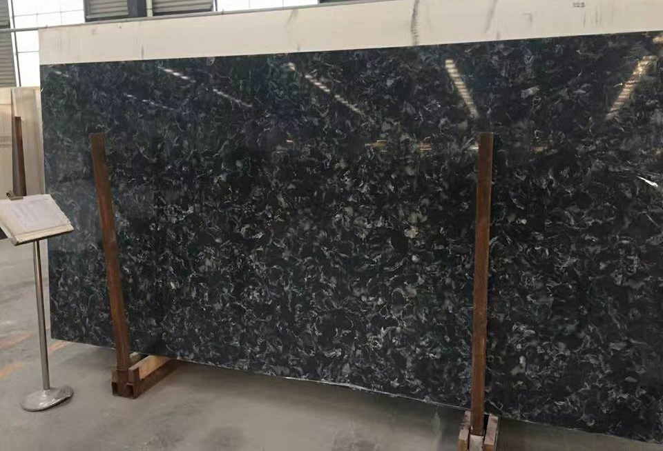 Black Artificial Stone Slabs Quartz Slabs with High Quality
