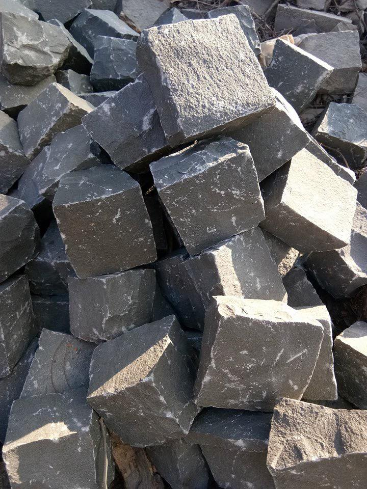 Black Basalt Cube Stone for Paving