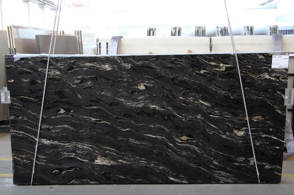 Black Cosmic Granite Slabs Polished Black Granite Slabs