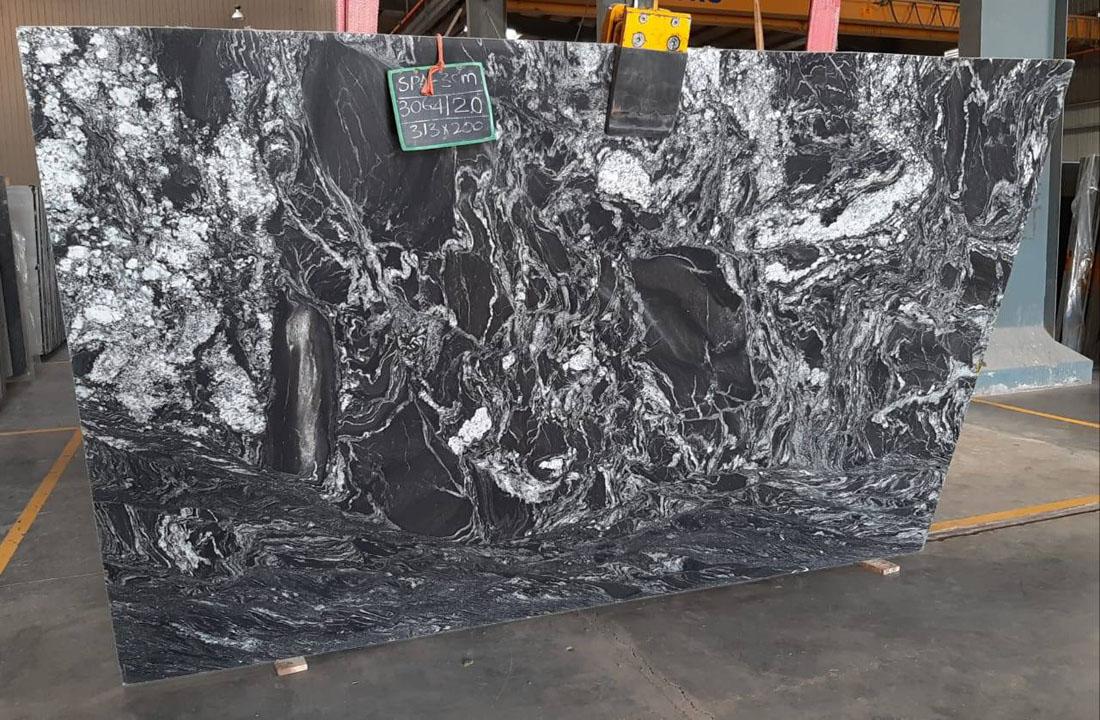 Black Forest Gangsaw 2cm Polished Granite Slab
