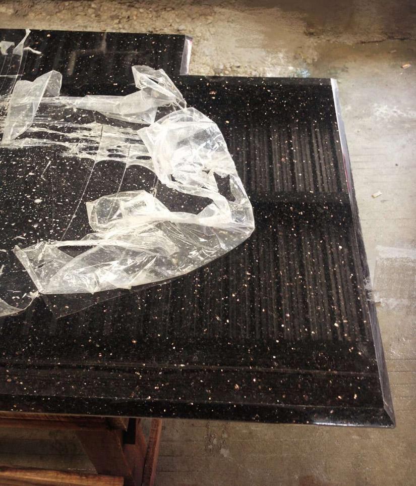 Black Galaxy Black Granite Bathroom Non Slip Tubs Tiles