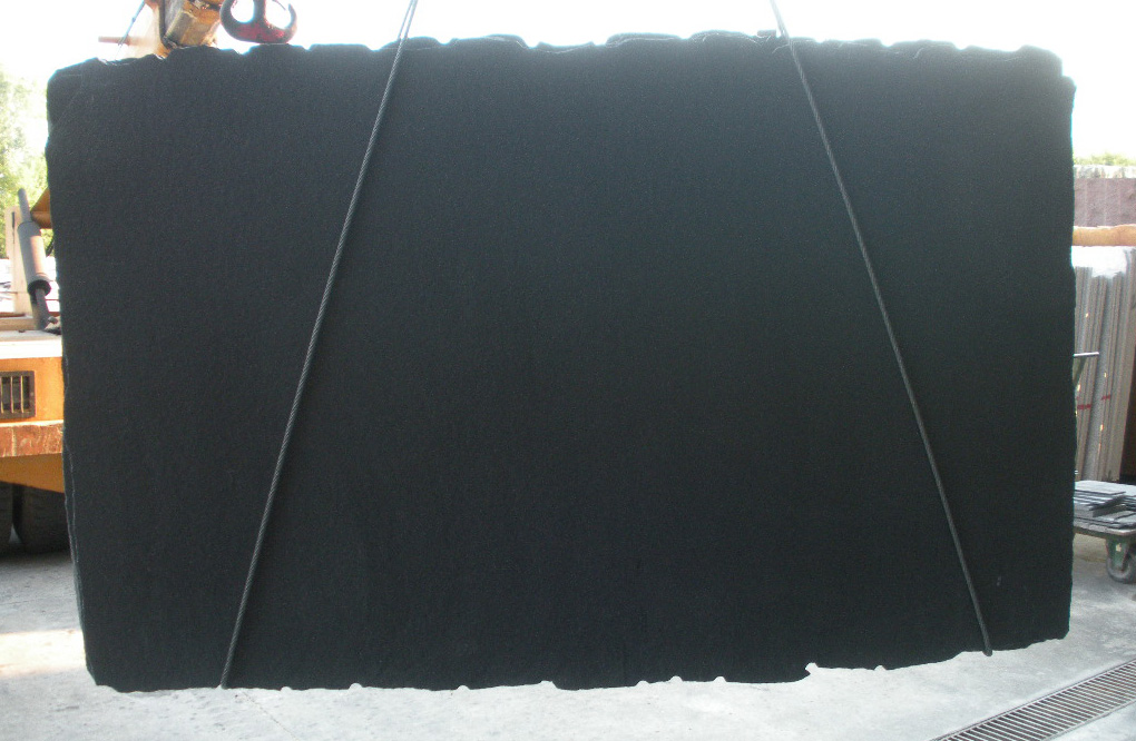 Black Galaxy Brushed Granite Slabs from India