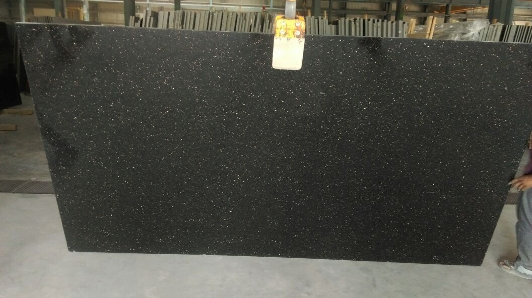 Black Galaxy Gangsaw Polished Granite Slabs