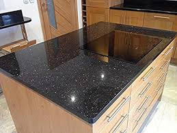 Black Galaxy Granite Polished Kitchen Countertops