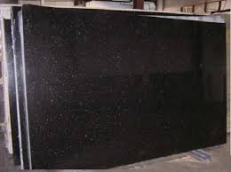 Black Galaxy Granite Polished Slabs