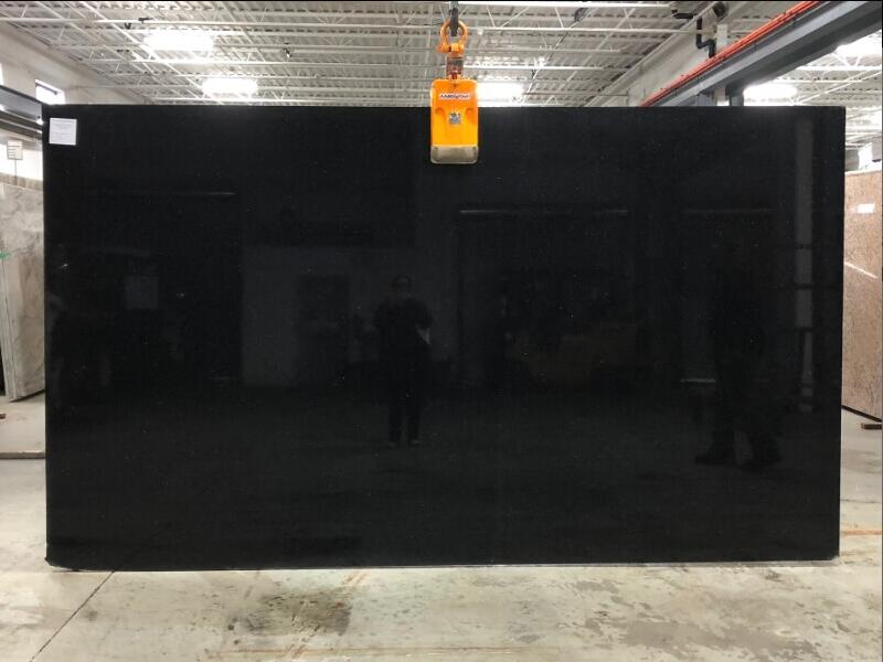 Black Galaxy Granite Slab Indian Black Granite for Countertops