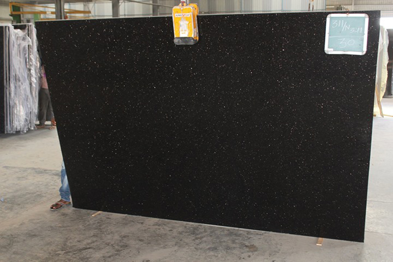 Black Galaxy Granite Slabs Indian Black Granite Slabs