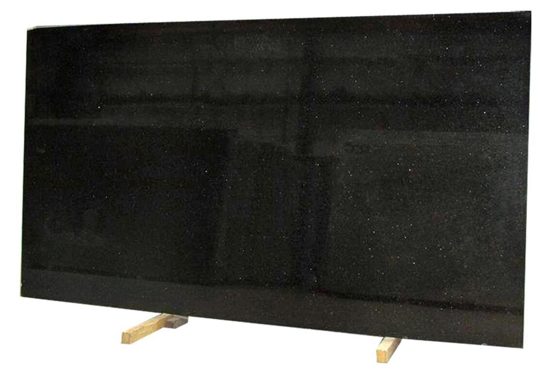 Black Galaxy Granite Tile Polished Black Granite Flooring Tiles