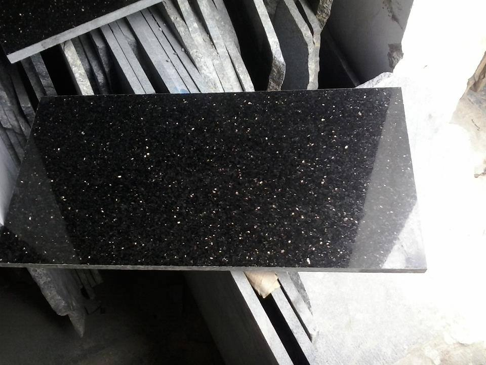 Black Galaxy Granite Tiles Polished Indian Top Quality Granite Tiles
