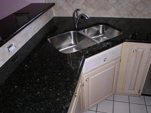 Black Galaxy Indian Granite Kitchen Countertops