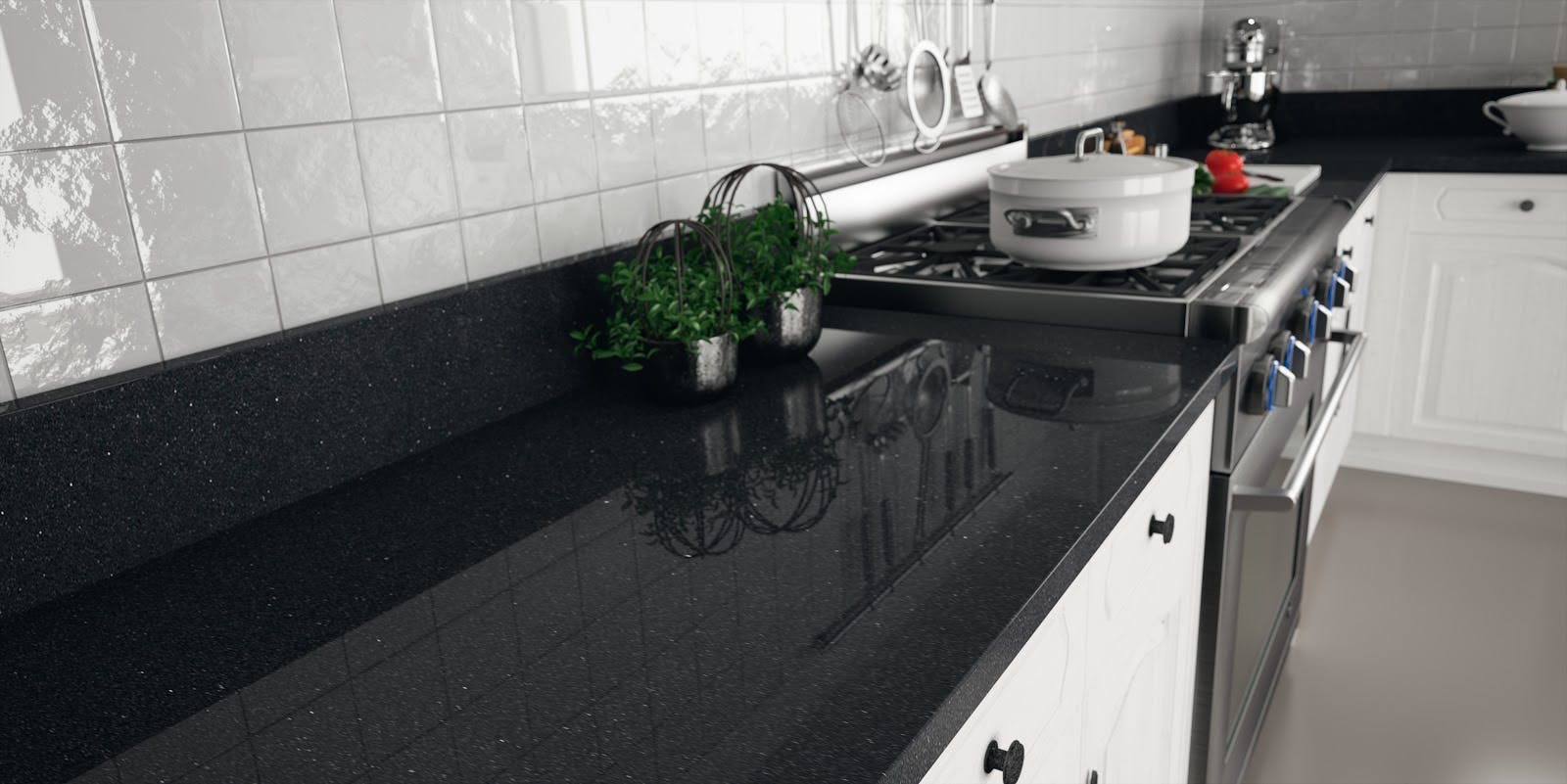 Black Galaxy Kitchen Countertops