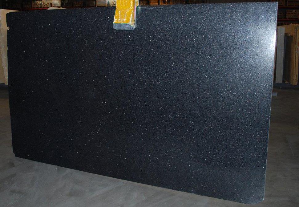 Black Galaxy Polished Granite Slabs Indian Black Granite Slabs