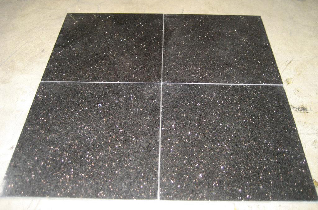 Black Galaxy Polished Granite Tiles Black Flooring Granite Tiles