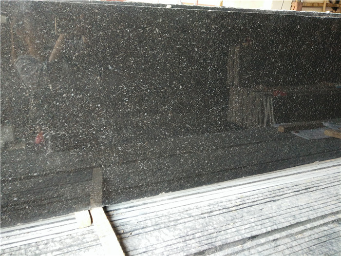 Black Gold Diamond Granite Countertop Polished for Kitchen