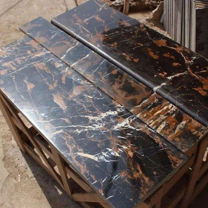 Black Gold Marble Steps Risers
