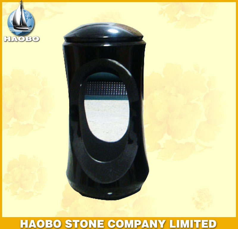Black Granite Lamp for Gravestone HBL002