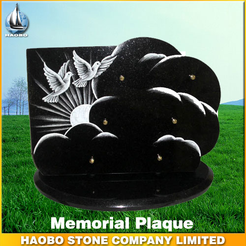 Black Granite Memorial Plaque