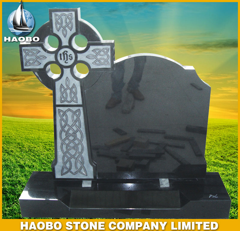 Black Granite Tombstone Irish Style HBMIE002