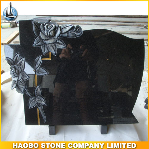 Black Granite Tombstone for European Market