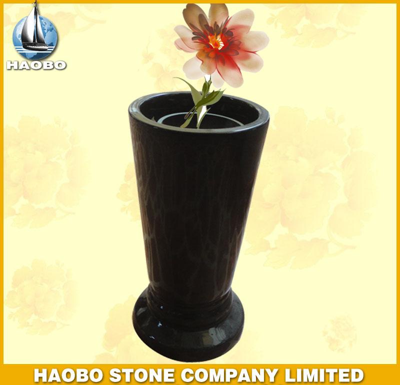 Black Granite Vase HBV008