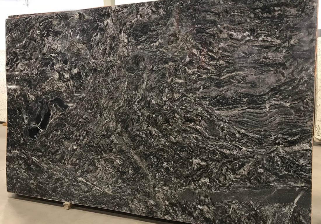 Black Polished Granite Stone Slabs
