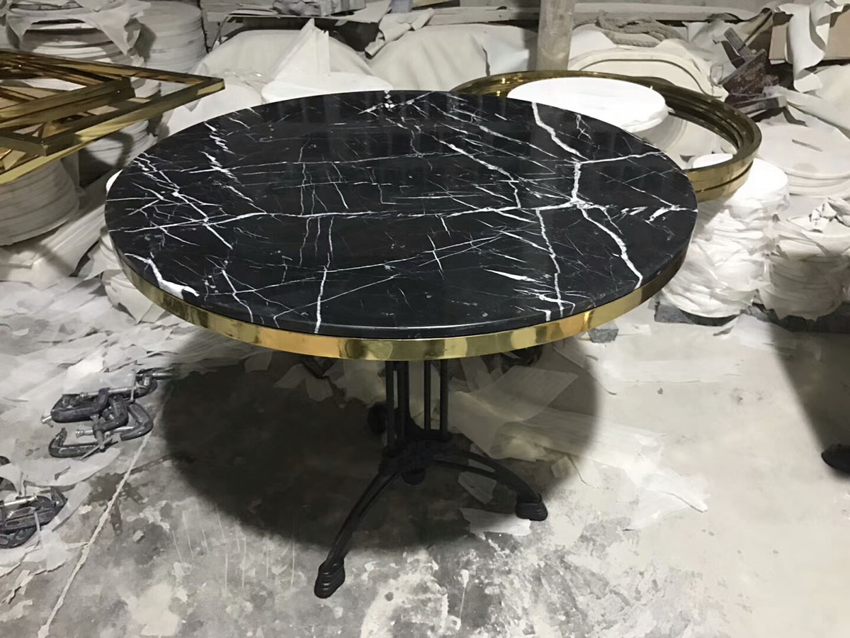 Black Marble Table Countertop