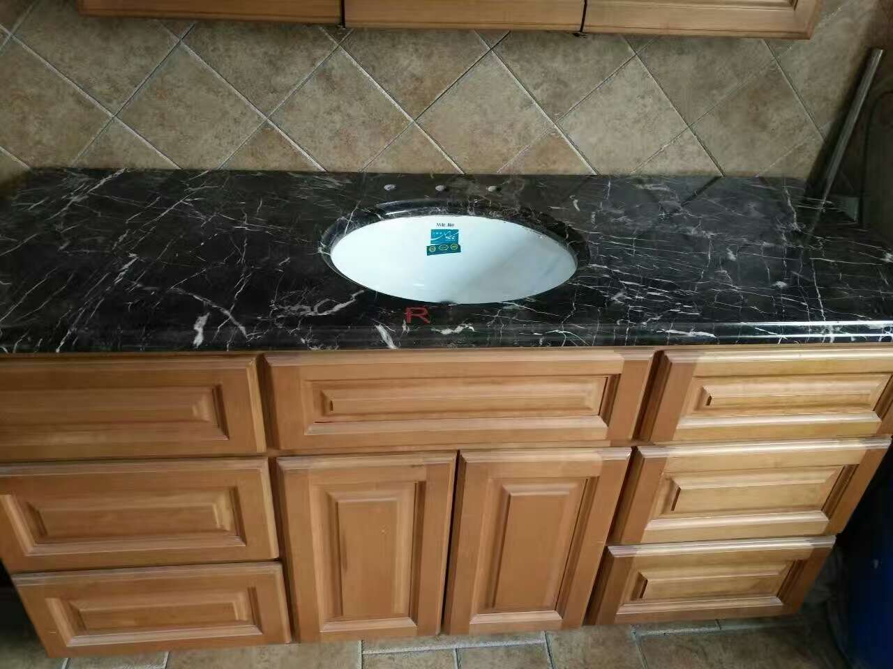 China Nero Marquina Marble, Black Marble Vanity Tops