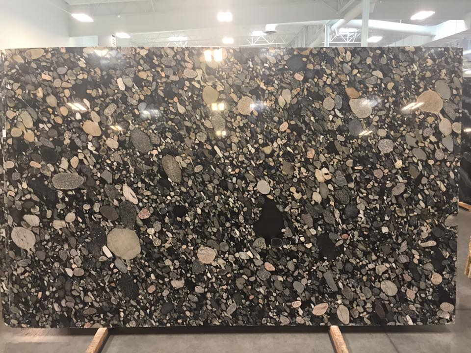 Black Marinace Granite Slabs Polished Granite Slabs