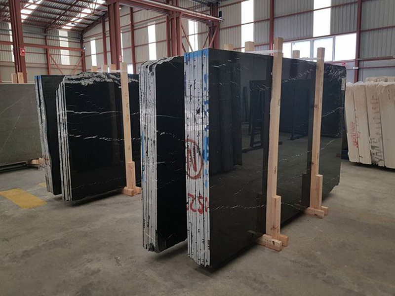Black Markina Slabs Polished Spanish Marble Slabs