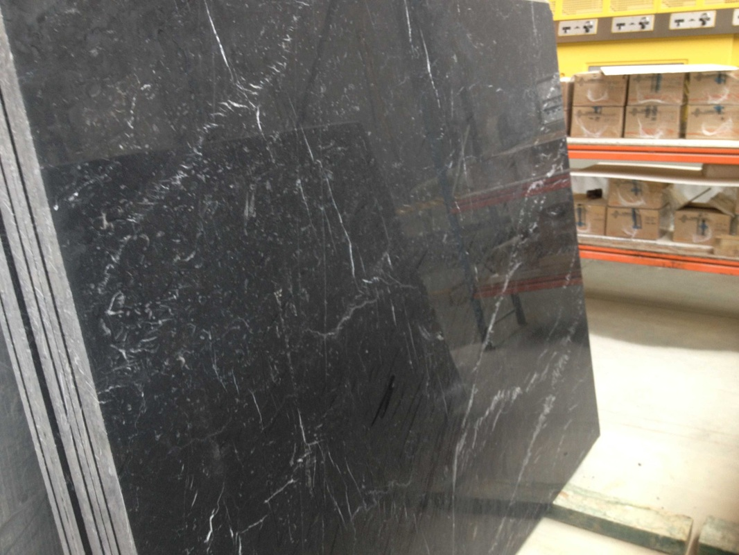 Black Marquina Polished Marble Slabs Spain Black Marble Stone Slabs