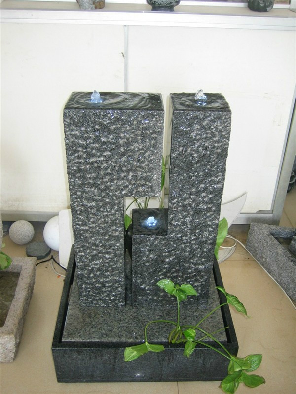 Black Natural Granite Stone Fountains
