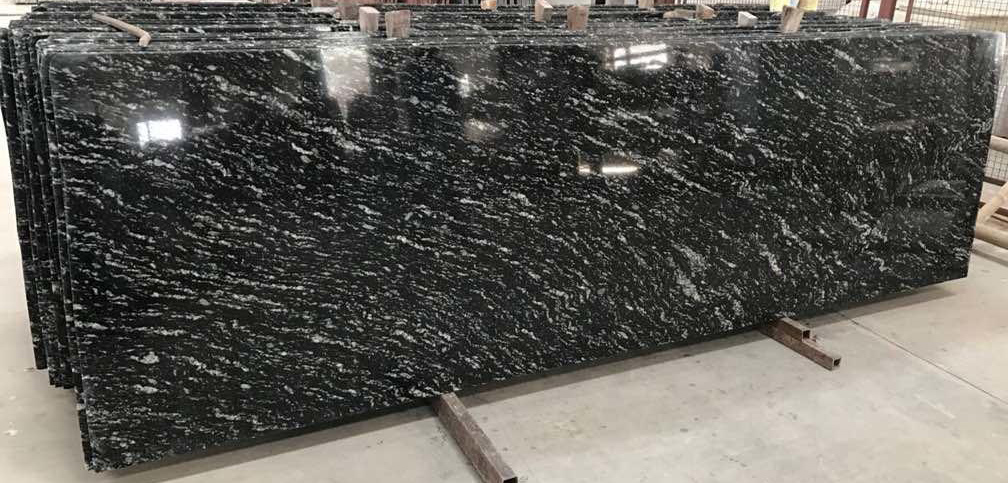 Black Paradiso Granite Indian Polished Granite Slabs