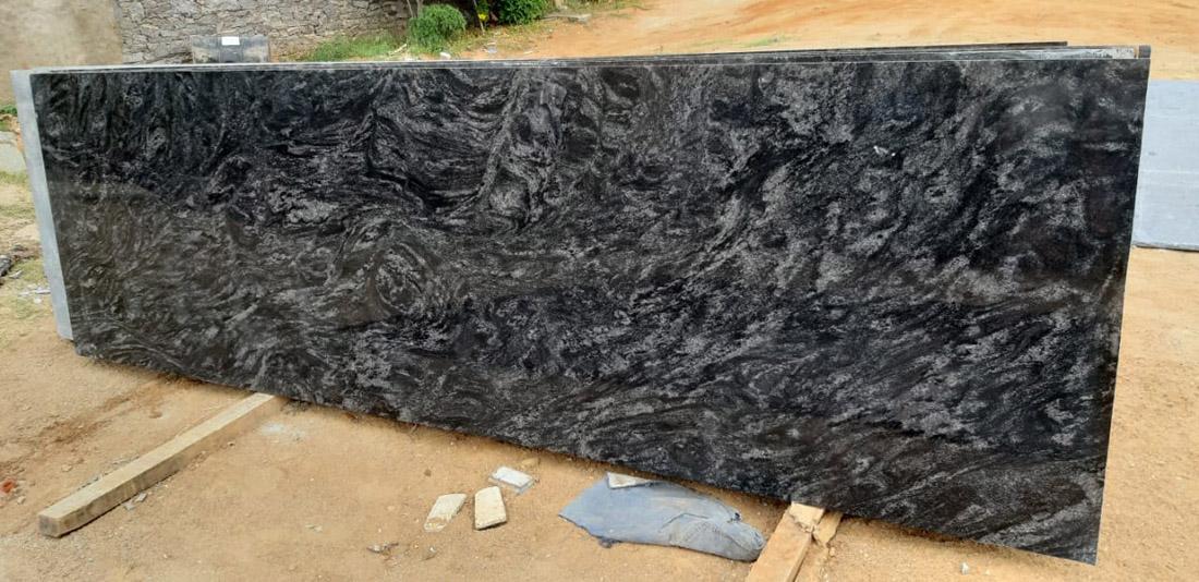 Black Paradiso Granite Slab for Kitchen Countertops