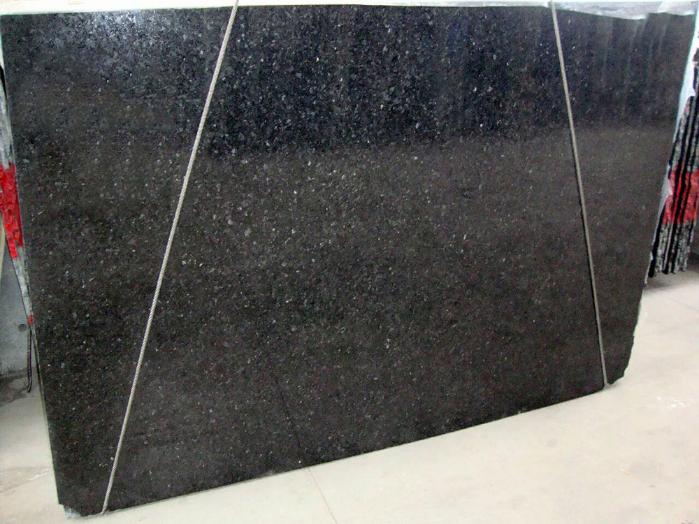 Black Pearl Granite Slabs Polished Black Granite Slabs for Countertops