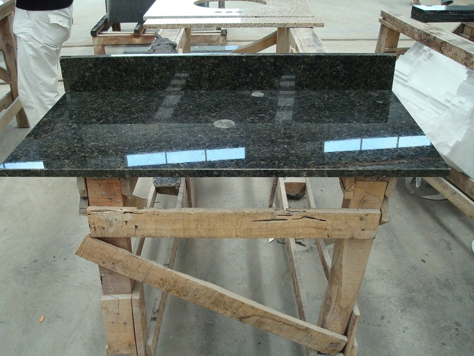 Black Polished Granite Vanity Tops