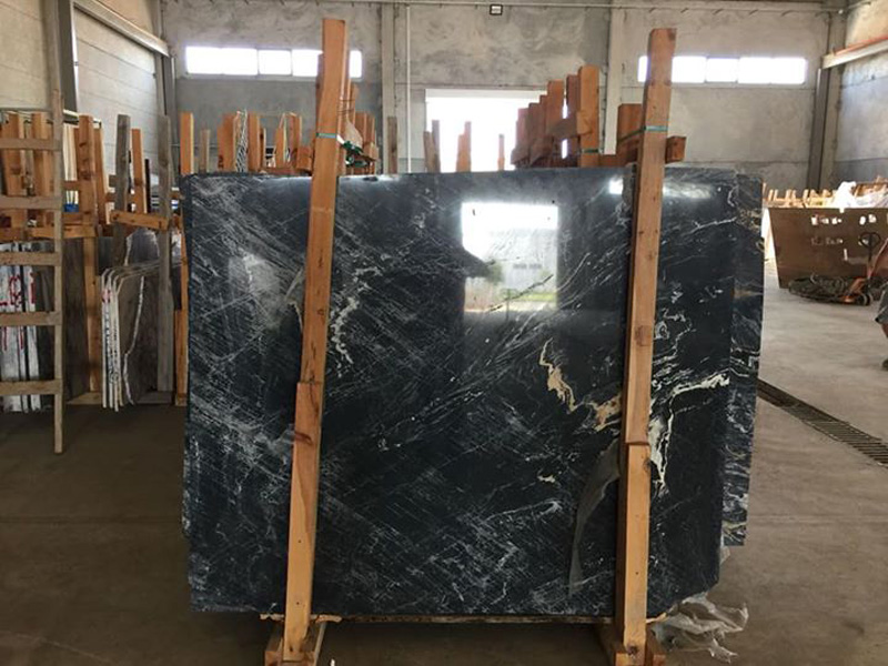 Black Polished Marble Slabs Picasso Marble Slabs