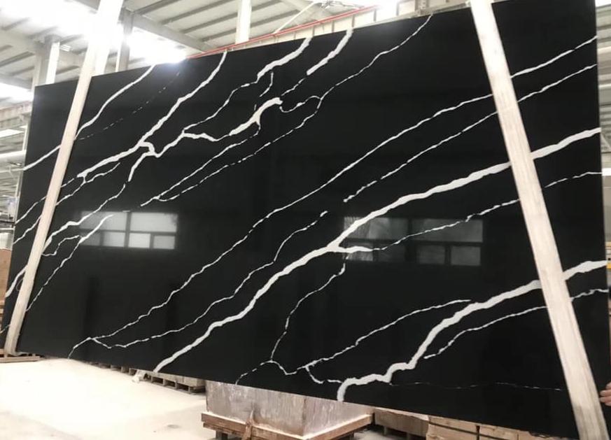 Black Quartz Slabs with High Quality