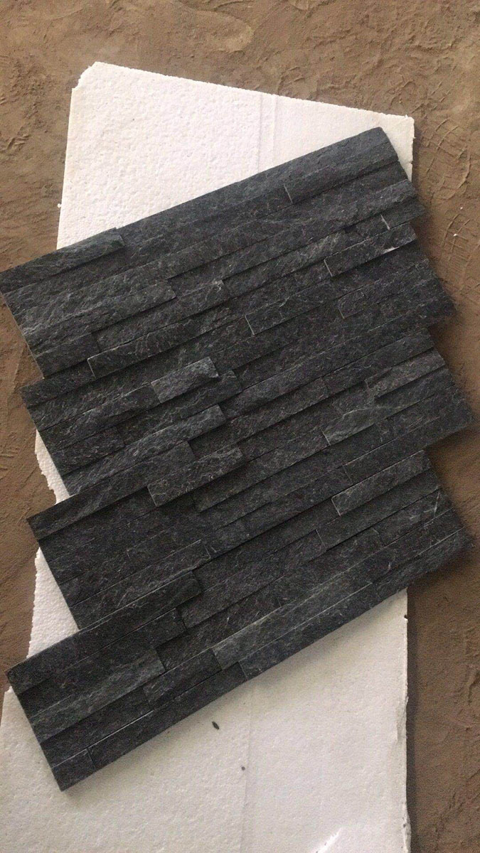 Black Quartzite Stacked Stone Veneer