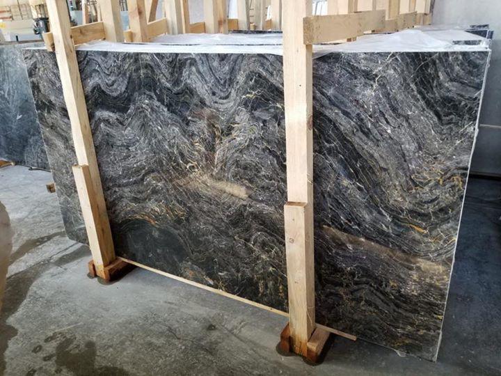 Black River Gold Marble Slabs