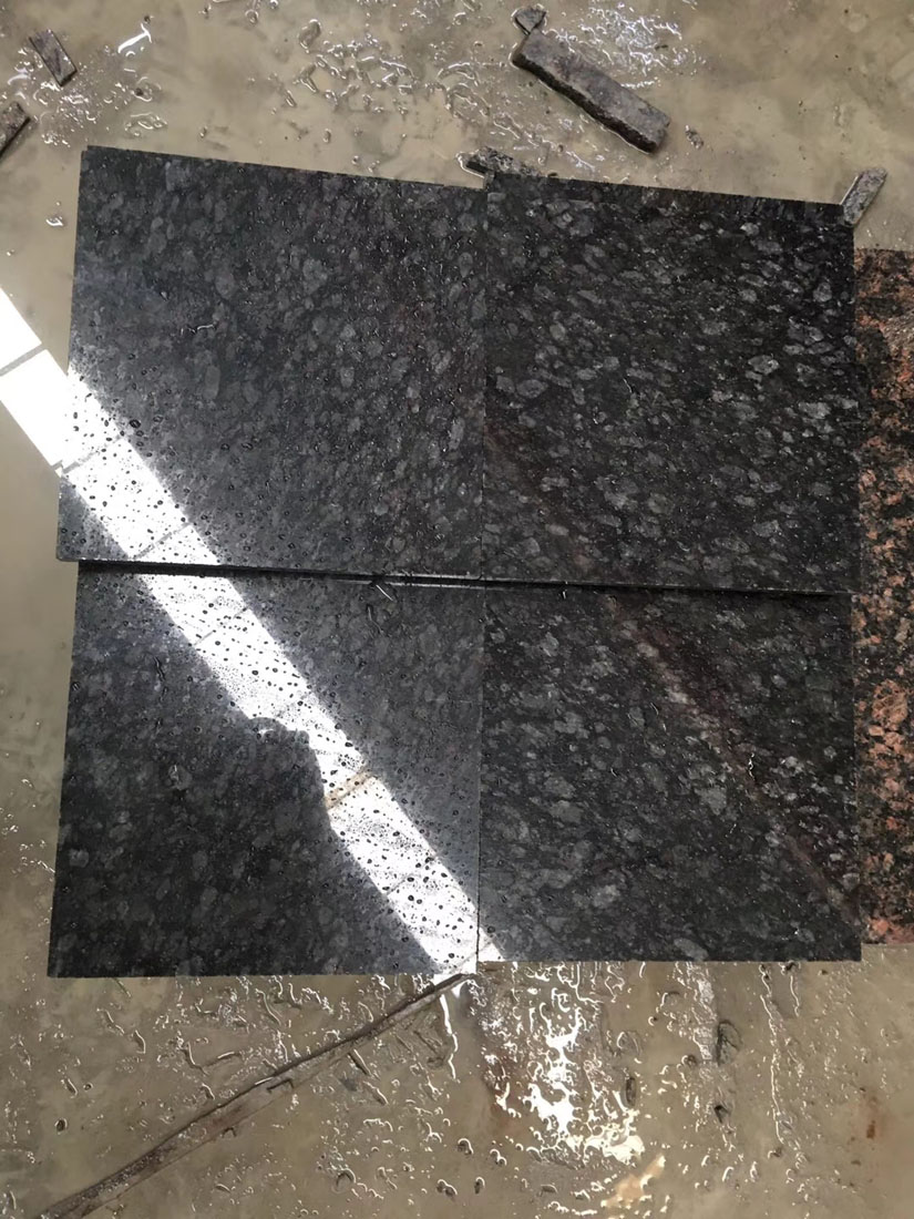 Black Rose Diamond Black Labradorite Granite Tiles