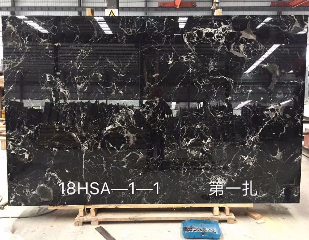 Black Rose Marble Slabs