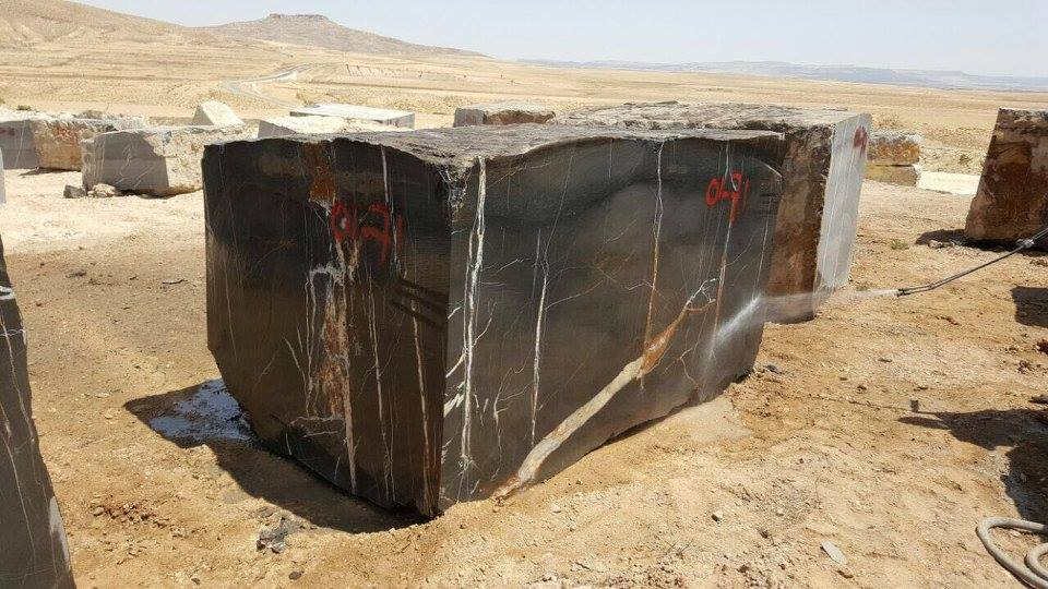 Black Sahara Marble Blocks from Tunisia