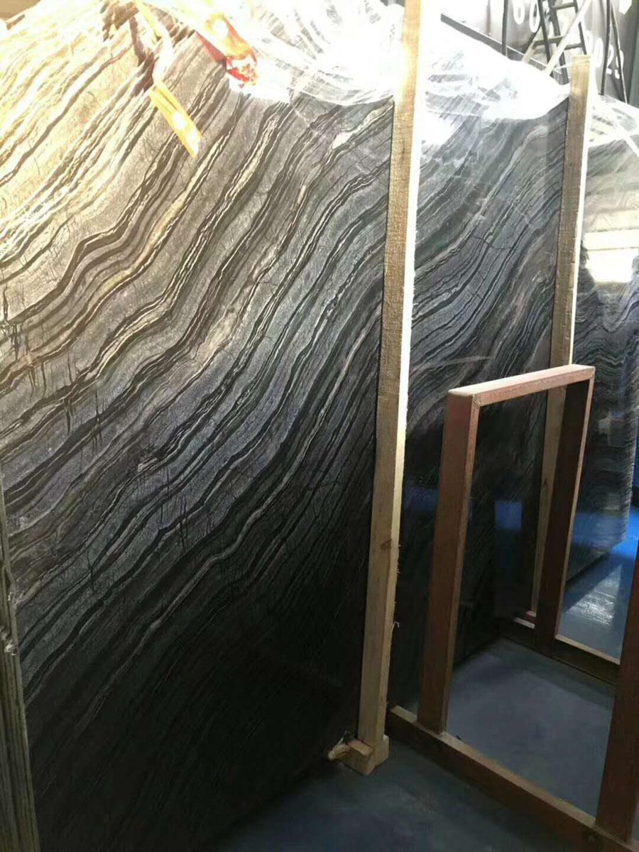 Black Tree Wood Veins Marble Slab Polished Marble Slabs